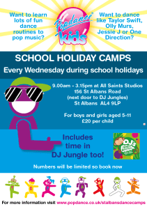 School holiday activity camps