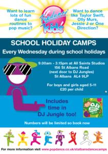 Pop Dance Camp Flyer